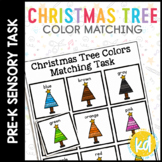 Folder Game: Christmas Tree Color Matching for Students with Autism
