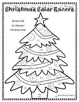 Christmas Tree Color Racing Game