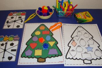 Christmas Centers Activities Christmas Tree Color Size Visual Discrimination
