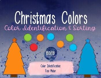 Christmas Tree Color Sorting Mats