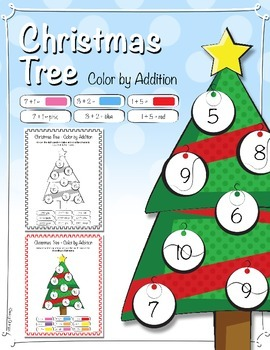 Christmas Tree - Color by Addition