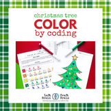 Christmas Tree Color by Coding Coloring Page
