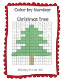 Christmas Tree - Color by Number - Christmas