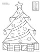 Christmas Tree Color by Number Worksheets - Pre-K, K, 1st,