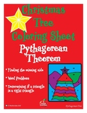 Pythagorean Theorem Practice Sheet -Coloring Christmas Themed