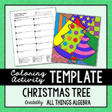 Coloring Activity Template: Christmas Tree (Personal Use Only)