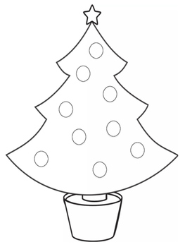 Christmas Tree Coloring Glyph