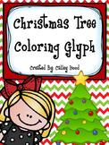 Christmas Tree Coloring Glyph