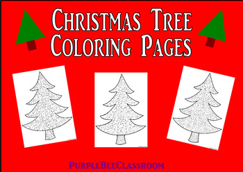 Christmas Tree Coloring Pages Crazy Trees Set 3