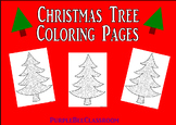 """Christmas Tree Coloring Pages """"Crazy Christmas Trees"""" Set # 3"""