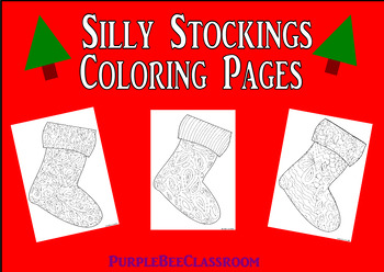 Christmas Stockings Coloring Pages Worksheets Teaching Resources Tpt