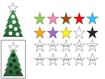 Christmas Tree Colors and Counting Folder Game Set - 4 Games in 2 Folders