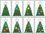 Christmas Tree Colors and Counting Folder Game Set - 4 Gam