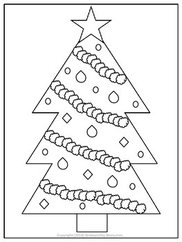 Christmas Tree Colouring In Sheet