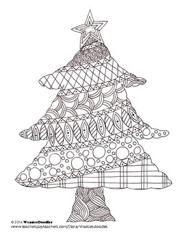 Christmas Tree Colouring Page