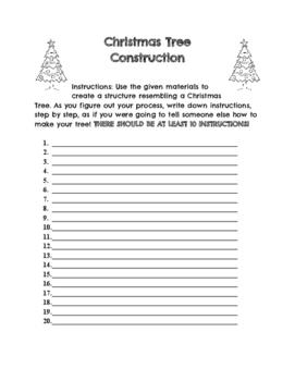 Christmas Tree Construction-STEM Documentation Sheet