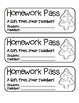 """Christmas Tree Cookie"" Homework Pass –Holiday FUN! (full color & black line)"