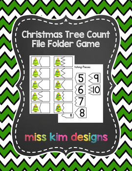 Christmas Tree Count File Folder Game for students with Autism