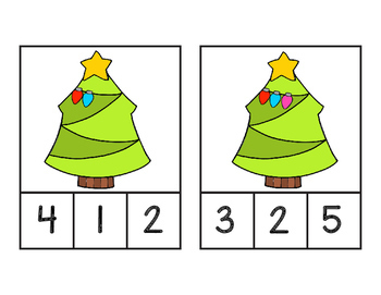 Christmas Tree Count and  Clip Cards