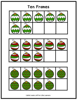 Christmas Counting Clip Cards and Activities for Preschool