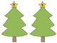 Christmas Tree Counting Cards {FREEBIE}