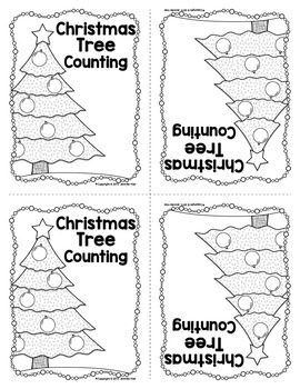 Christmas Free Activity | Christmas Tree Counting Emergent Reader