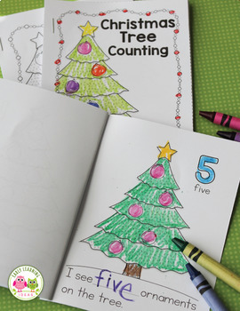Christmas Activity | Christmas Tree Counting Emergent Reader