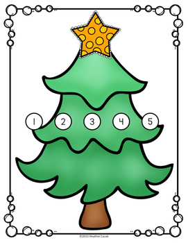 Christmas Tree Counting Hands-On Math Mats 1-25 Low Prep (Pre-K to Kindergarten)
