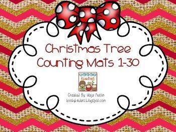 Christmas Tree Counting Mats 1-30