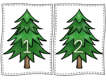 Christmas Tree Counting Mats 1-30