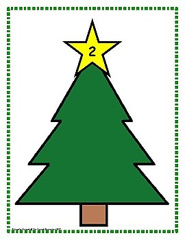 Christmas Tree Counting Mats Center