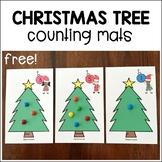Christmas Tree Counting Mats for Preschool, Pre-K
