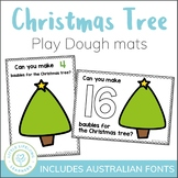 Christmas Tree Counting Play Dough Mats - Numbers 1 to 20