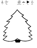 Christmas Tree Counting Visual Worksheet