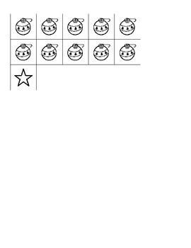 Christmas Tree Counting Visual Worksheet