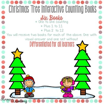 Christmas Tree Counting and Addition Books: Interactive and Differentiated