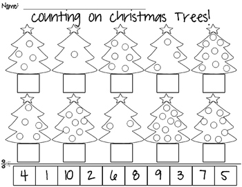 Christmas Tree Counting to 10!