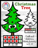 Christmas Tree Craft, Five, Ten Frame Decomposing Addition