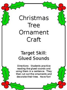 Christmas Tree Craft:  Glued Sounds