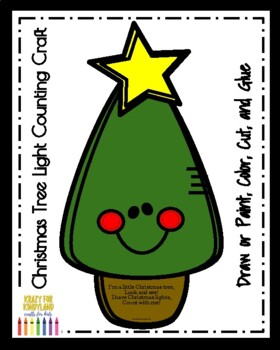 Christmas Tree Craft: Light Counting