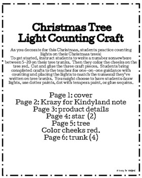 Christmas Tree Light Counting Craft