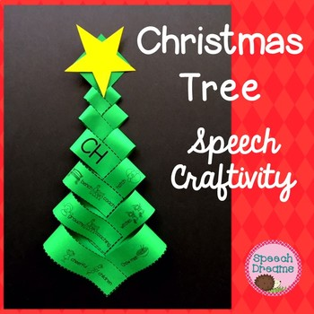 Oh Christmas Tree Speech Therapy Craft {Articulation}