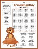 Punxsutawney Phil's Groundhog Day Word Search Puzzle