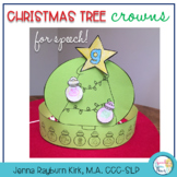 Christmas Tree Crowns: 100 trial  No Prep Craft Speech Crowns