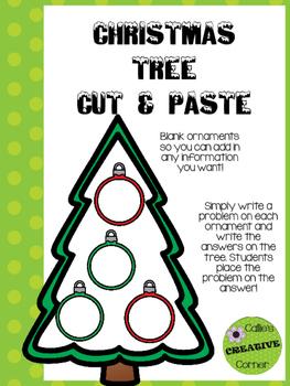 Christmas Tree Cut & Paste
