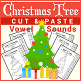 ❅ Christmas Tree Cut & Paste - Vowel Sounds ❅