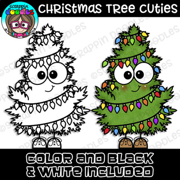 Christmas Tree Cuties Clipart {Scrappin Doodles Clipart}