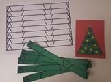 Christmas Tree Cutting Strips, Montessori Style