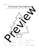 Christmas Tree Decorating Addition Worksheet