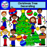 Christmas Tree Decorating Clip Art - Doodle Patch Designs